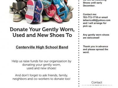image of shoe drive flyer